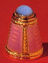 ... and therefore it could be profitable to fake a Fabergé thimble. These thimbles may be known as Fauxbergé and we are aware of at least one example.