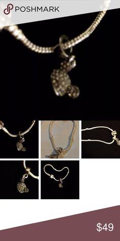 Kids Pandora 6 3/4 Bracelet Rhinestone Mickey Ear Kids Pandora 6 3/4 Length Bracelet With Rhinestone Mickey Ears Charm Pandora Accessories Jewelry