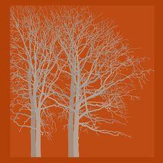 Title  Red Trees Autumn   Artist  Kandy Hurley   Medium  Photograph - Prints