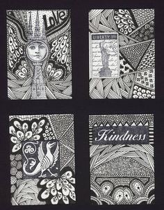Hadn't considered using zentangle designs.  Could be good for some cards.
