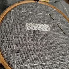 Darning Sampler: Adding Two New Stitches - embroidery sampler stitch-along on Button Button