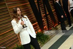 Jared Leto arrives to the Vanity Fair after-party of the 85th Academy Awards, hosted by Graydon Carter at the Sunset Plaza Sunday evening.