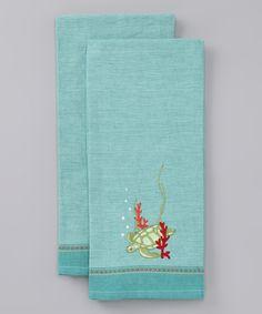 Sea Turtle Dish Towel - Set of Two