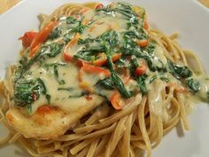 Tuscan Garlic Chicken....only 500 calories for a large serving