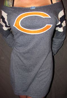 Chicago Bears Navy Blue Football Off The by LipBiteCouture on Etsy, $11.99