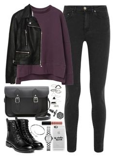 """Outfit for university with a Cambridge Satchel"" by ferned on Polyvore featuring Acne Studios, MANGO, Zara, The Cambridge Satchel Company, Topshop, yeswalker, Cartier, Casetify, Marc by Marc Jacobs and NYX"