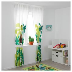 Childrens Bedroom Curtains Ikea IKEA has acceptable consistently been your go-to abode for fast appliance and simple architecture solutions. But now, IKEA is about to be the abode you go to Childrens Curtains, Kids Room Curtains, Ikea Curtains, Green Curtains, Bedroom Curtains, Ikea Curtain Rods, Curtain Sets, Curtains Without Sewing, Jungle Bedroom