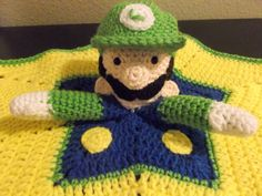 Super Mario Luigi Star Snuggle Buddy Baby by CrazyJanesCustoms