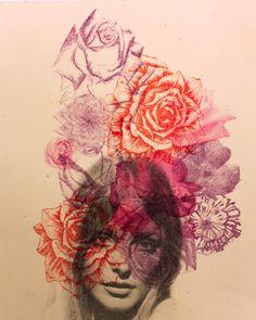 Creative Darling, Ren, Medrano, Lithograph, and Medranochav image ideas & inspiration on Designspiration Illustrations, Illustration Art, Photocollage, Wow Art, Design Graphique, Pics Art, Amazing Art, Printmaking, Photo Art