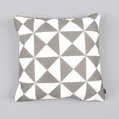 Ferm Living Cushion Large Geometry - Grey