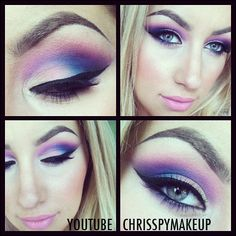 """""""Pic from my latest video using the @BH Cosmetics Eyes on the 60's eyeshadow palette!"""""""