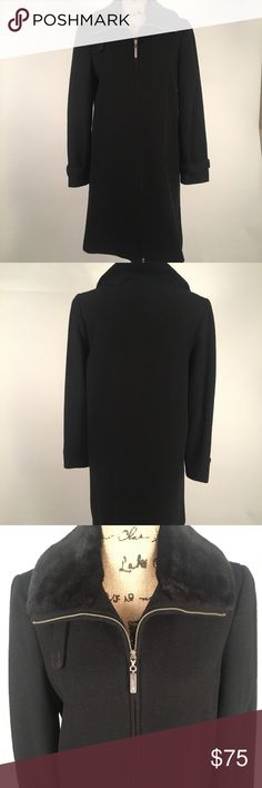 Vintage ESPRIT coat Beautiful vintage ESPRIT coat. So warm and comfortable!! GREAT CONDITION! Black coat with dark purple faux fur around collar. Zips all the way down. Esprit Jackets & Coats