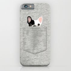 Pocket French Bulldog - Pied iPhone & iPod Case