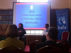 'Attitude is Everything' speaking about access at BAFA's 2014 Roadshow event for festival organisers