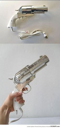 Badass Hairdryer, I'd have to make a holster for it!