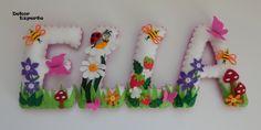 Kinderzimmerdekoration - 3D Buchstaben für Namenskette Girland ab 10€/Stk - ein Designerstück von DekorExperte bei DaWanda