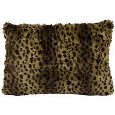 Mina Victory Faux Fur Animal Print Oblong Throw Pillow ($75) ❤ liked on Polyvore featuring home, home decor, throw pillows, brown, faux fur throw pillow, brown throw pillows, brown accent pillows, oblong throw pillows and oblong toss pillows