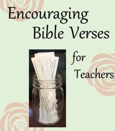 Encouraging Bible Verses for Teachers