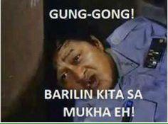 Gunggong barilin kita sa mukha eh Memes Pinoy, Memes Tagalog, Filipino Memes, Filipino Funny, Tagalog Love Quotes, Funny Menes, Filipino Words, Happy Memes, Relatable Meme