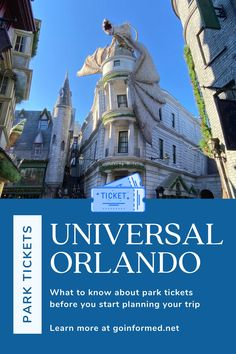 Don't wait to learn about Universal Orlando park tickets. Step-by-step instructions to help you plan your park days and get those perfect tix! Orlando Vacation, Orlando Resorts, Florida Vacation, Florida Travel, Universal Parks, Universal Studios Florida, Orlando Theme Parks, Disney World Trip, Best Vacations