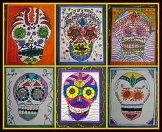 Day of the Dead (Each year ask G to make a new one, save and frame them together in the laundry room?)