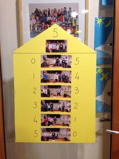 Rekenen splitsen getal 5 met foto's van de kinderen