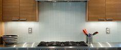Kitchen Glass Subway Tile Backsplash : White Mini 1x4 glass Subway tile