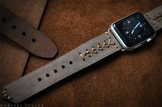 4 Baseball Watch Straps for Apple #Handmade #Vintage #Leather - Bracelets Handmade Jewelry Men's Jewelry