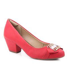 Sapato Scarpin Feminino Dakota - Vermelho - Passarela.com