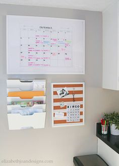 Create a Simple and Functional Command Center - ELIZABETH JOAN DESIGNS