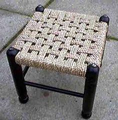 Rattan Cane, Rush and Seagrass Seat Weaving DIY Kits – macrame Chair Repair, Furniture Repair, Furniture Makeover, Wood Furniture, Rope Crafts, Diy And Crafts, Woven Chair, Diy Chair, Handmade Furniture