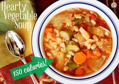 Ultra Healthy 150-Calorie Vegetable Soup Recipe (You almost burn more calories by making this soup that you take in by eating it!)