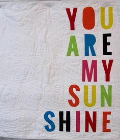 You are my sunshine quilt wall hanging quilt nursery decor
