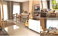 """รีวิวตกแต่ง """"บ้านสไตล์มินิมอล"""" ตามแบบฉบับมือใหม่ เรียบง่ายด้วยเฟอร์นิเจอร์ไม้ พร้อมมุมใช้งานที่ครบครัน Thai House, Minimal Home, Deck Design, Office Desk, Terrace, Minimalism, Building, Balcony, Milk"""