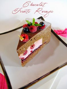 J'en reprendrai bien un bout...: Hello Baby - Chocolat & Fruits Rouges -