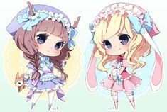 Chibi commission batch03 by inma.deviantart.com on @deviantART
