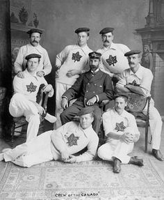 """The crew of the """"Canada"""", 1896. #vintage #Victorian #portrait #1800s"""