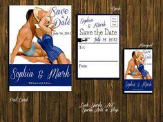 Save The Date  Custom Printable Vintage 1950 Retro by SparksArts, Retro Vintage Wedding