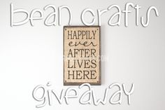 Our Holly Days: Bean Crafts Typography Giveaway