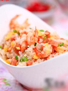 fried rice with seafood Comida China Menu, Rice Dishes, Food Dishes, Seafood Fried Rice, My Favorite Food, Favorite Recipes, China Food, Asian Recipes, Ethnic Recipes
