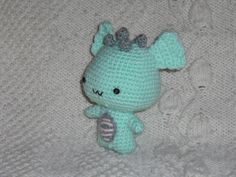 I made this dragon for my son. FREE pattern from All About Ami. See my facebook page: Katkas creations