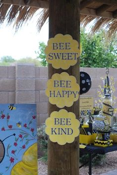 Hostess with the Mostess® - Bumble Bee Party.   Maybe do a. Bumble bee baby shower if you don't know the gender??