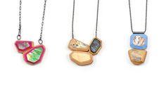 Tara Locklear - PopRoxx Gem Chain Series 2014 | recycled skateboards. sterling silver. pigment. | taralocklear.com