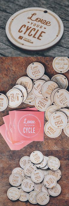 Laser Cut And Engraved Wooden Circular Business Card Design