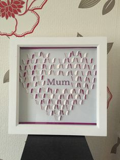Christmas gift for mum Butterfly heart present by MrsBspokeGifts