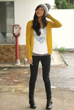 Another example of why I want a mustard cardigan.