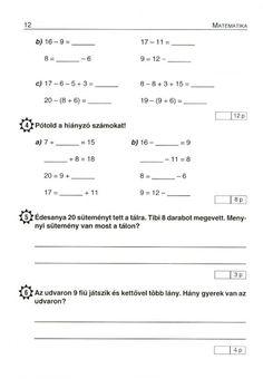 MATEMATIKA FELADATLAPOK 1. OSZTÁLY - tanitoikincseim.lapunk.hu Math Class, Sheet Music, Album, Teaching, Archive, Play, Music Score, Learning, Education