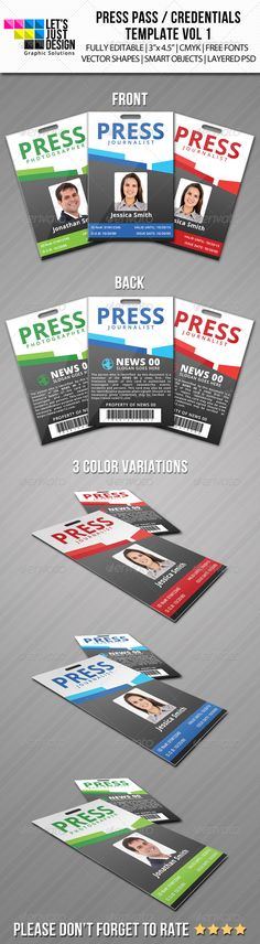 Word documentation cover page template sponsorship for Media press pass template