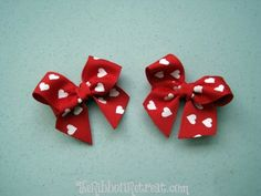 Hearts Bow - The Ribbon Retreat Blog