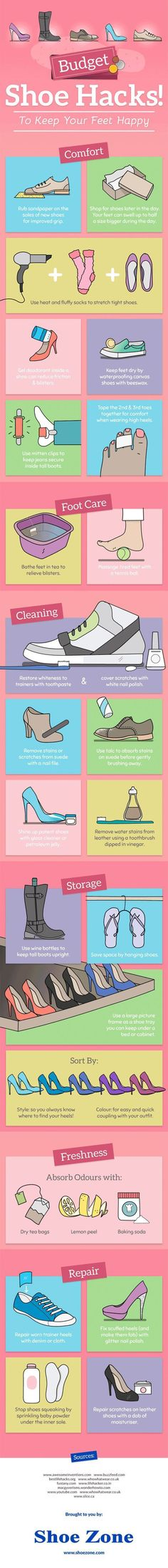 If you have a cute-shoes-but-too-tight-for-my-feet problem, all you have to do is wear large socks while blow drying the area that's too tight.